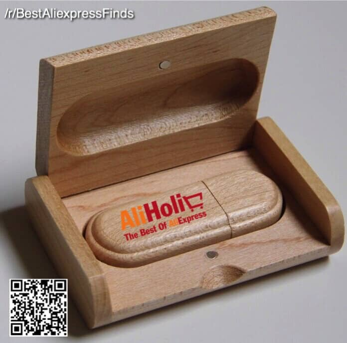 Wooden flash drive AliExpress