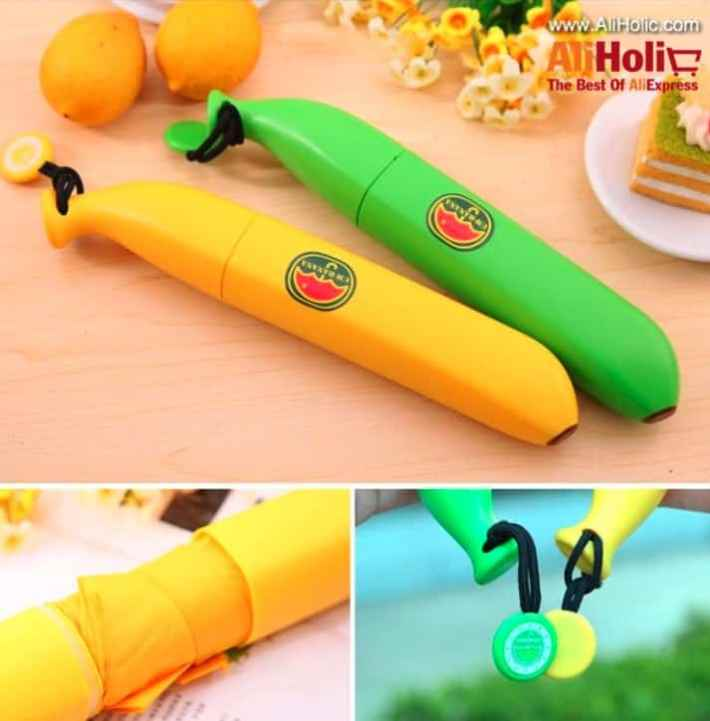 Banana umbrella yellow green AliExpress