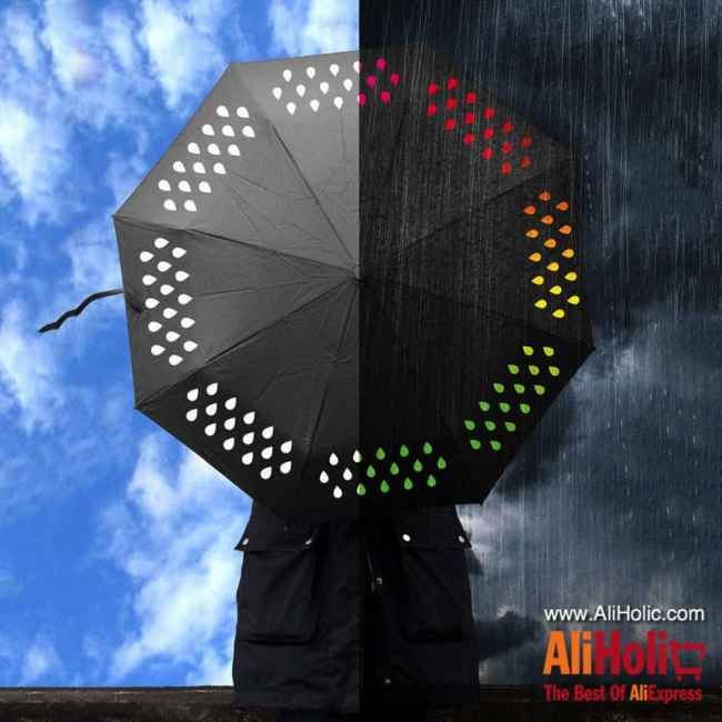 Color changing umbrella when it rains AliExpress
