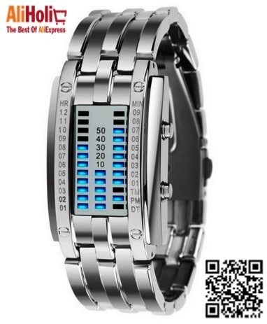 Digital watch with a unique way of showing time 2