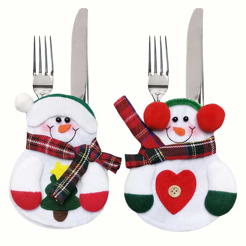 12pcs-xmas-decor-lovely-snowman-kitchen-tableware-holder-pocket-dinner-cutlery-bag-party-christmas-table-decoration