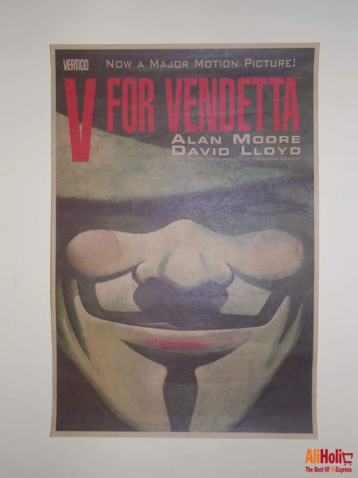 V for Vendetta retro poster cheap AliExpress