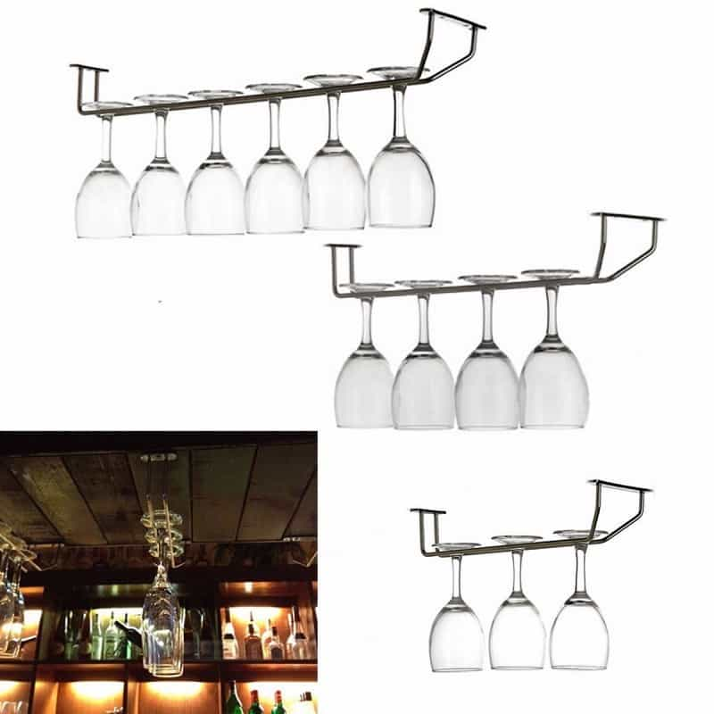 champagne-stemware-holder-chrome-plated-wine-rack-glass-cup-kitchen-wall-bar-hanger-enclosed-stainless-steel