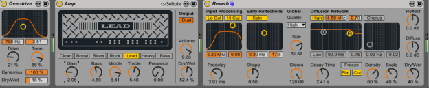 Ableton Amp, Overdrive and Reverb
