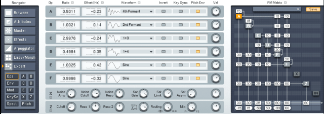 Ambient Pads in FM8 | Zeroes and Ones