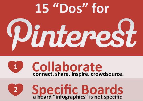 """15 """"Dos"""" für Pinterest"""