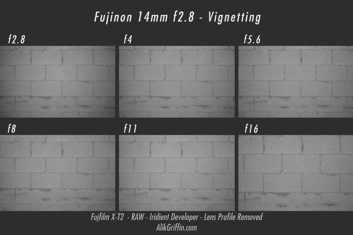 Fujinon 14mm Vignetting Samples