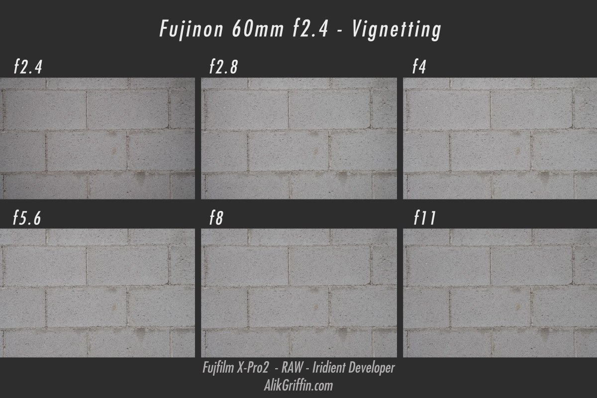 Fujifilm 60mm f2.4 Vignetting Samples