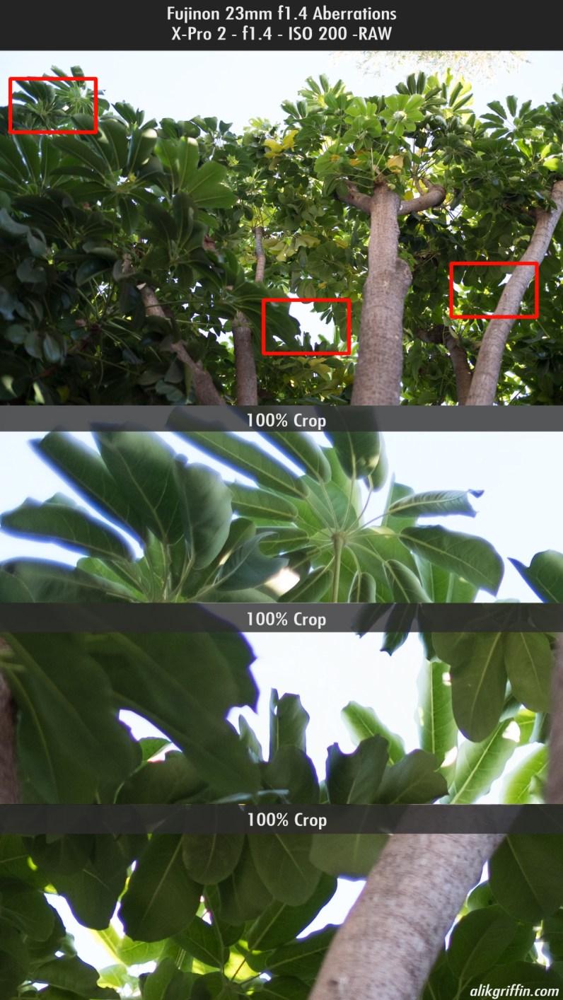 Fuji 23mm f1.4 chromatic aberrations