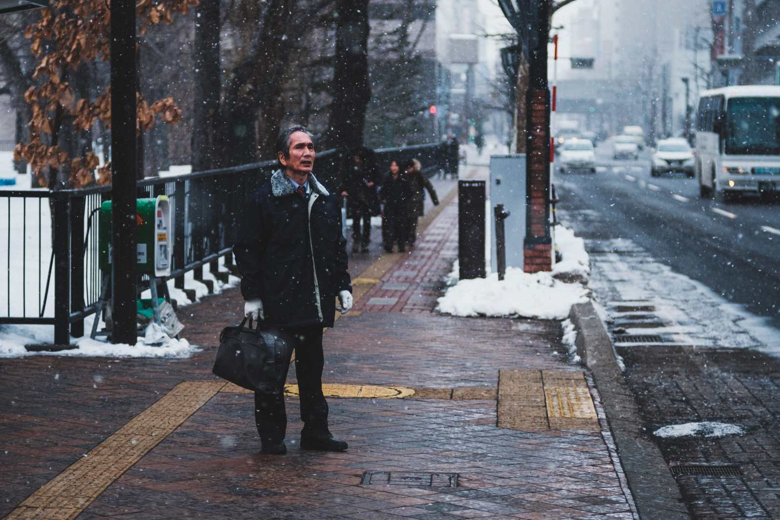 Snowing In Sapporo