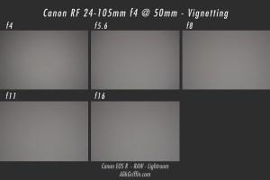 Canon RF 24-105mm f4L Vignetting Sample at 50mm
