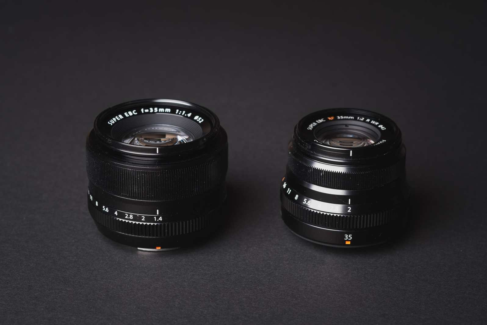 Fujinon 35mm f1.4 vs 35mm f2