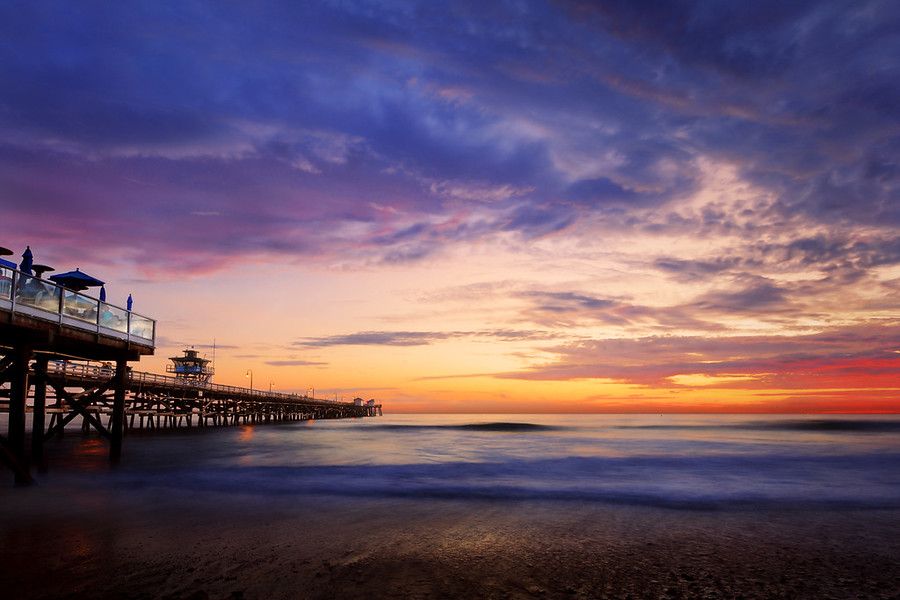 San Clemete Life. A rare and amazing sunset in San Clemente California.