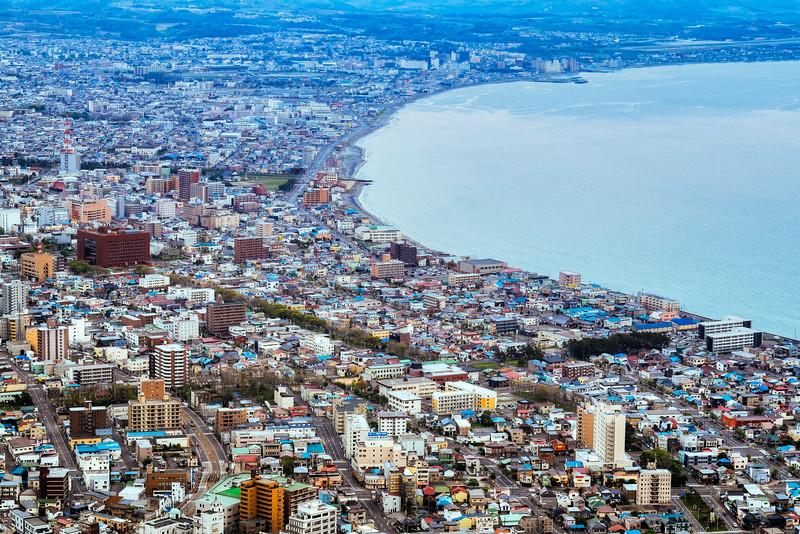 View of Hakodate in Hokkaido Japan