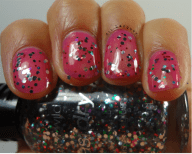 Party Of Five Glitters over How I met Your Magenta- 1 Coat