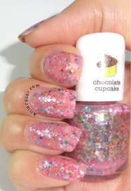 Ornaments- Light pink glitter swatch