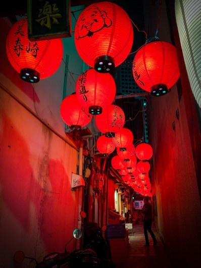 Japanese lantern alley