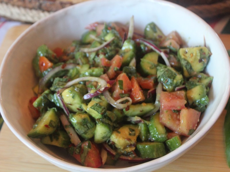 Tomato Avocado Cucumber Salad