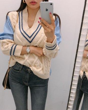 Комбинированный свитер