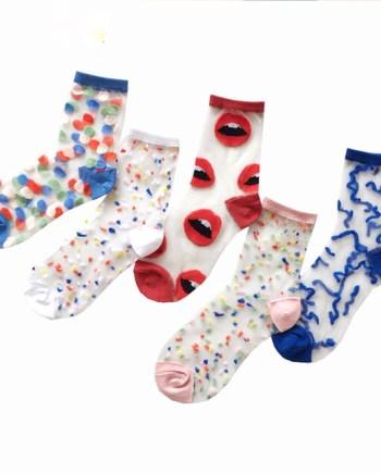 Набор из 5 пар носков с принтами