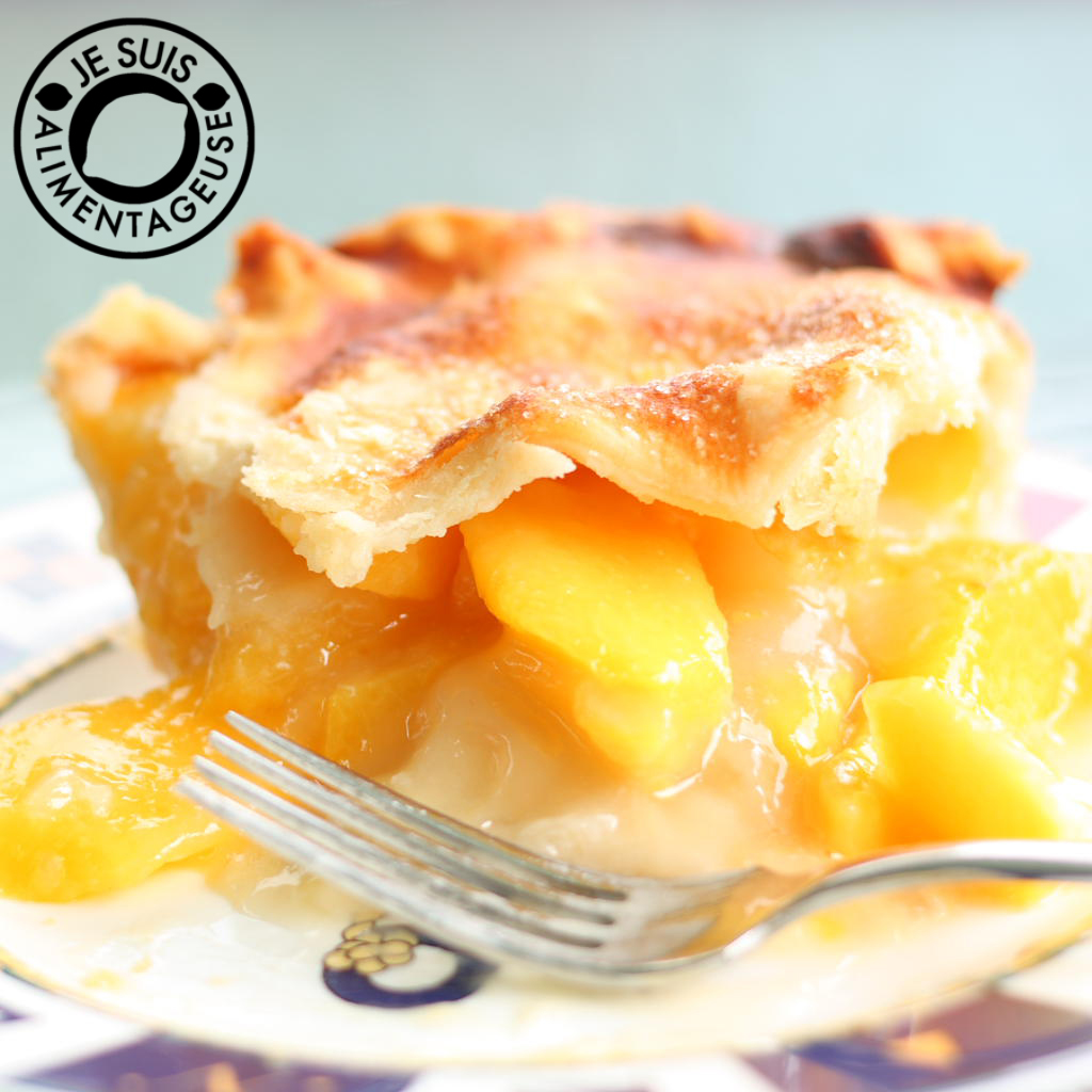 Easily Entertained - Peachy Recipes - Peach Pie | Je suis alimentageuse