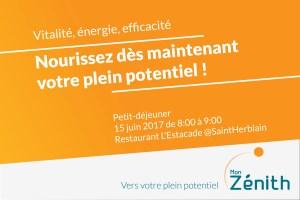 Petit déjeuner MON ZENITH 15 juin 2017