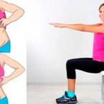 5 ejercicios con una silla que reducirán tu grasa del vientre mientras estás sentado