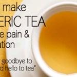 Cómo hacer té cúrcuma para aliviar del dolor