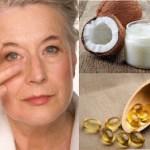 Crema natural de aceite de coco y vitamina E para rejuvenecer el contorno de los ojos