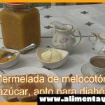 Mermelada y compota de melocotón, Sin azúcar, apto para diabéticos