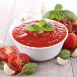 Salsa de tomate casera antioxidante y anticancerígena