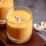 Licuado para dar energía de zanahoria y jengibre con canela y nuez