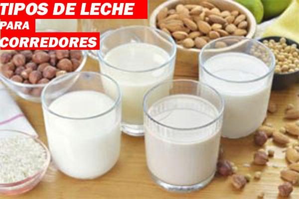 tipos de leche para corredores