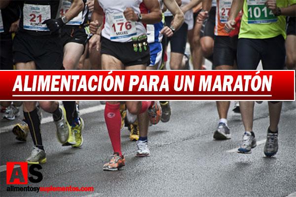 alimentacion para un maraton