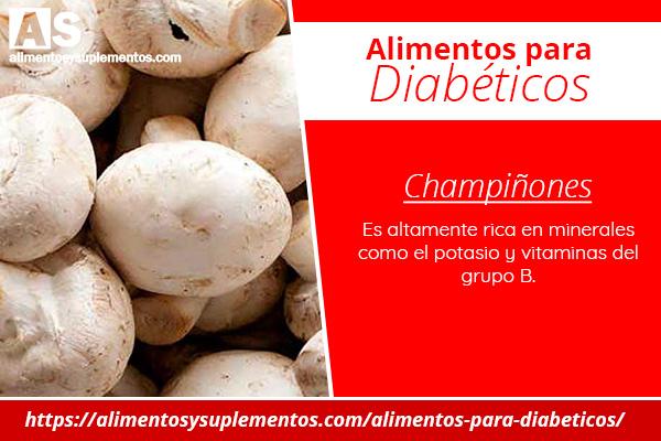alimentos para diabeticos champiñones