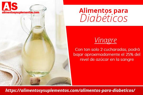alimentos para diabeticos vinagre