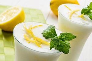 Sorbete de limón sin azúcar