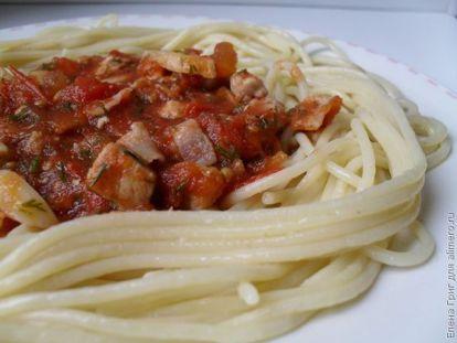 Паста с мясом в томатном соусе, рецепты с фото