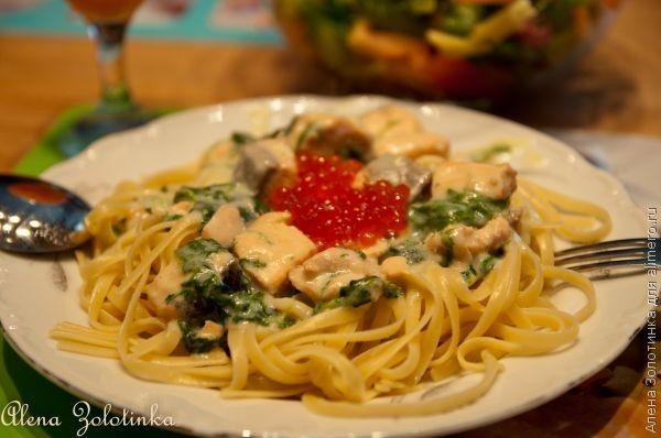 Паста с лососем в сливочном соусе, рецепты с фото