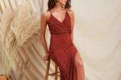 Tarçın Rengi Elbise Modelleri