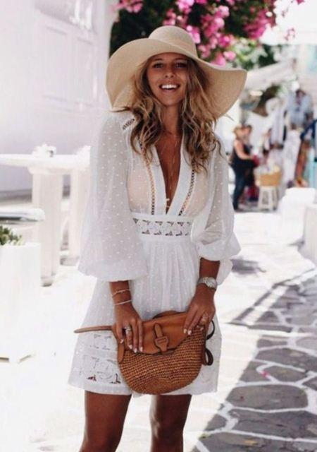 beyaz fisto elbise modelleri