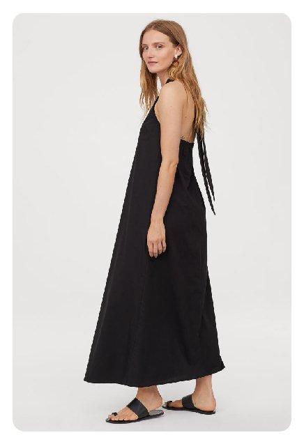 siyah penye elbise tesettür uzun