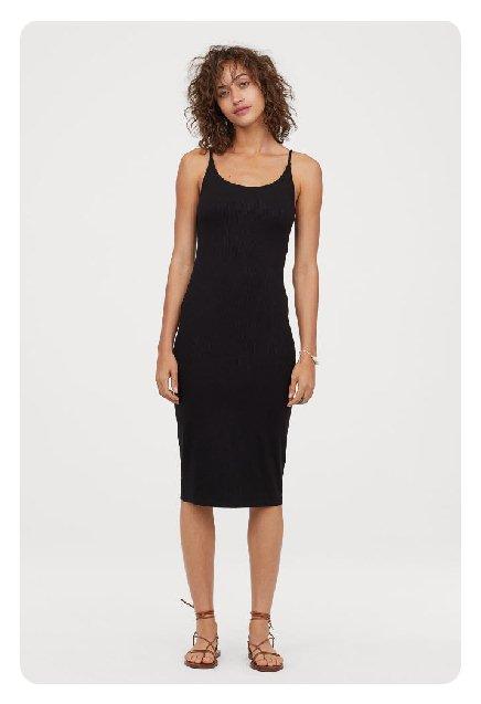 zara siyah penye elbise kısa