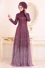 2020 En Şık Simli Tesettür Abiye Elbise Modelleri