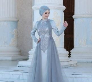2021 En Güzel Tesettür Abiye Elbise Modelleri
