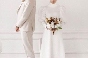 2021 Tesettür Nikah Elbisesi Modelleri