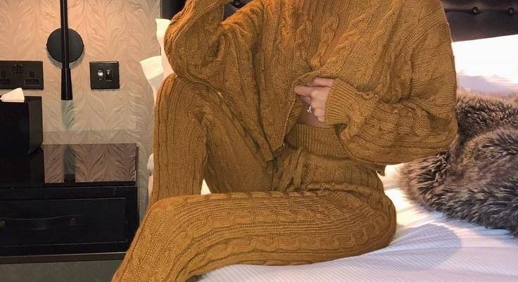 2021 Örme Bluz ve Pantolon Kombinleri
