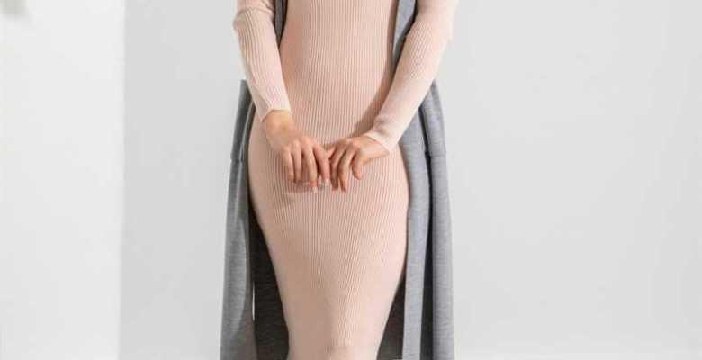 2021 Triko Tesettür Elbise Modelleri ve Fiyatları