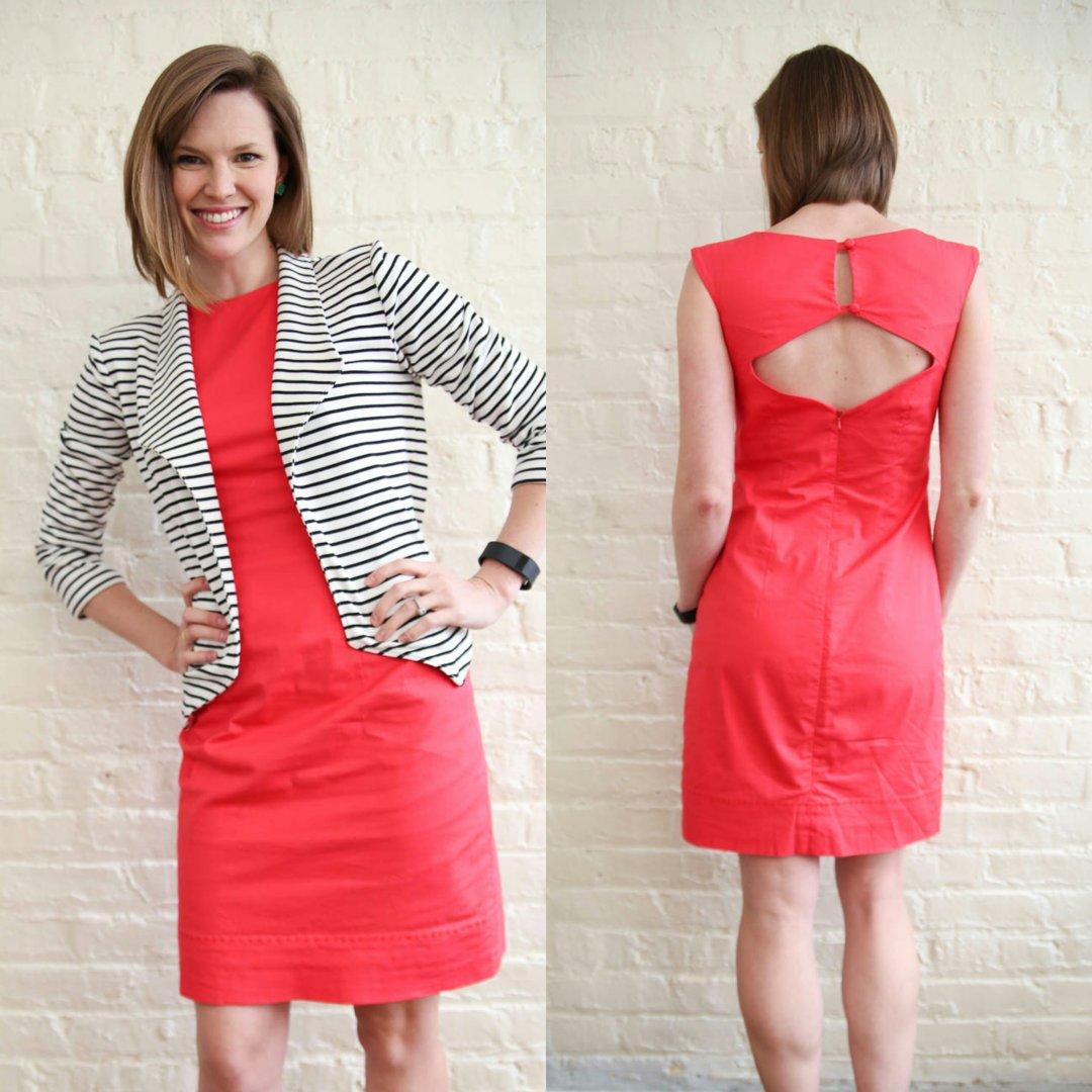Self-Drafted Savannah Sheath Dress