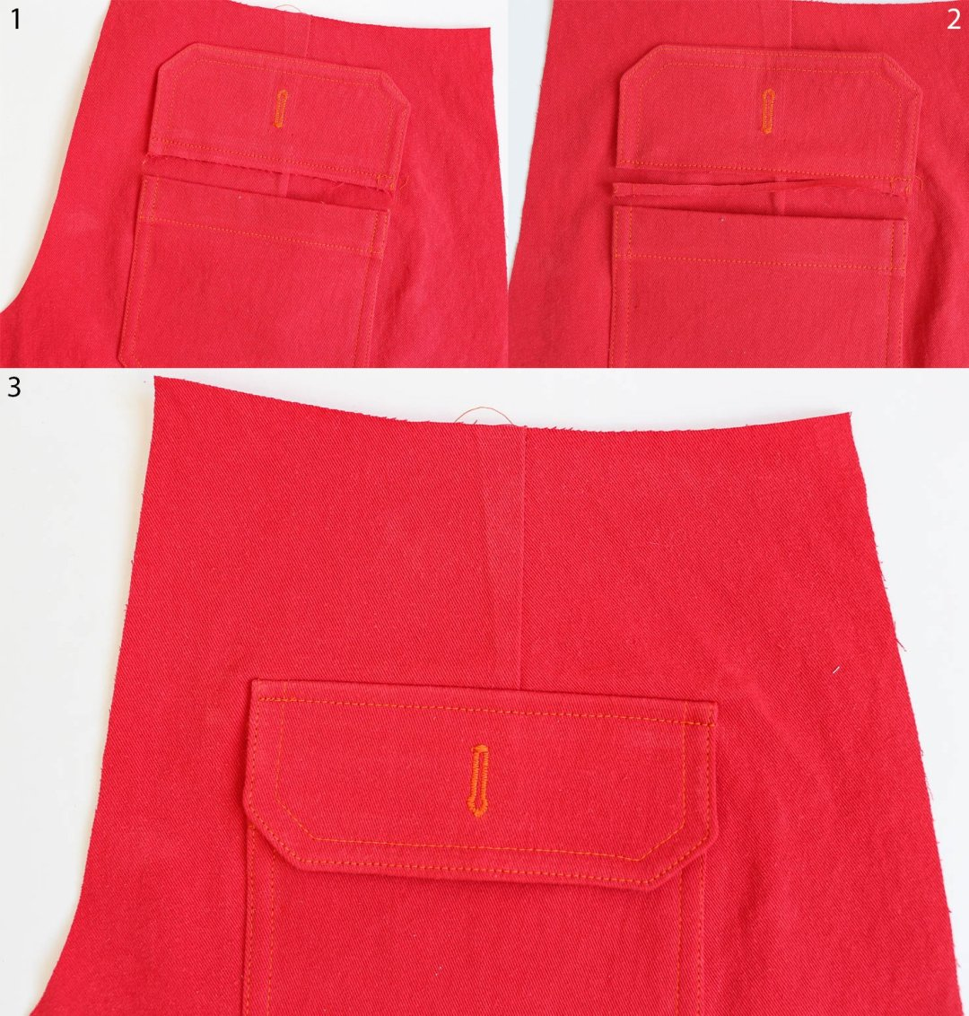 Chi-Town Chinos-Attaching Pocket Flaps